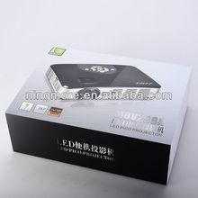 New Top HDMI VGA AV USB TF Portable Mini Pocket DLP Link Shutter 3D Micro Mini Projector For Iphone Android