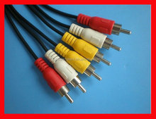 factory price AV male 3 RCA to 3RCA cable