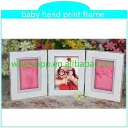 handprint footprint with photo frame combined photo frame