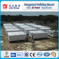 Labor camp flat pack cheap modular container house with new design and high quality
