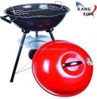 brand new triklent out door charcoal grill black 18IN round trolley kettle bbq