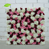 GNW FLW1508-7 artificial mounted flower wall backdrop for wedding use