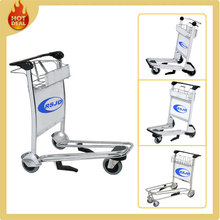 250kg weight capacity stainless steel handle brake luggage trolley parts for airport