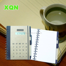 Hardcover spiral notebook calculator with pen