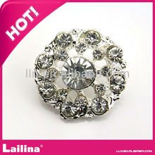 Best selling 26mm Clear Crystal rhinestone button flat back