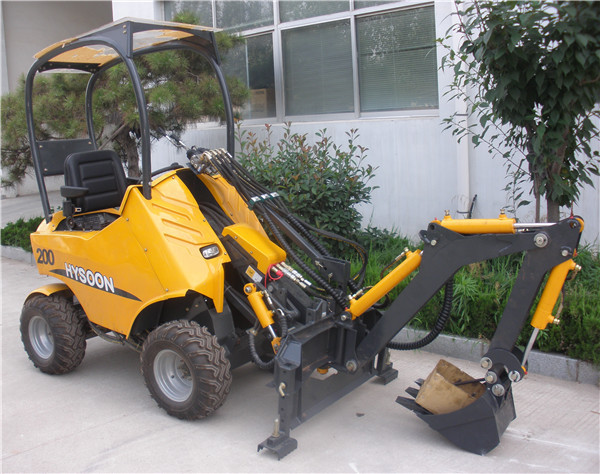 China hot sale mini tractors with front end loader view china tractors for sale hysoon product for Small garden tractors with front end loaders
