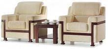 Popular Modern Leather Office Sofa Sala Set F-48