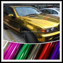 chrome blue car wrap vinyl film for car wrapping body air bubble free