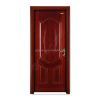 Red interior security steel wood door