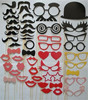 photo booth prop-50pcs paper mustache mask wedding party faovr