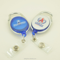 Plastic and metal badge reel/ customized logo and color badge reel for nurse