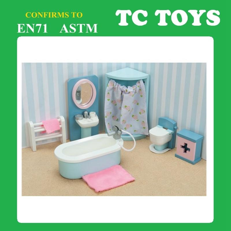 hoge kwaliteit roze kleur mini meubels speelgoed slaapkamer mini