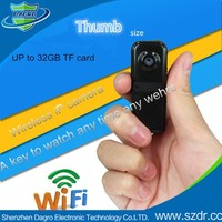 Hot Sale Mini Wireless Camera Thumb Size 0.3Mp Support Iphone And Android Software Toilet Hidden Mini Camera