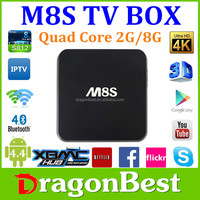 Quad Core Android 4.4.2 Mini Pc 2Gb/8Gb Tv Dongle M8S With Remote 2.0Ghz 2G Rom/8G Rom Tv Stick