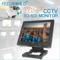 """FEELWORLD 12.1"""" wireless monitor on security camera with 3G-SDI HDMI YPbPr Audio Video"""