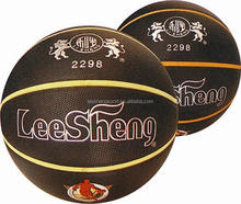 2298 Black PVC leather Colored stripe basketball