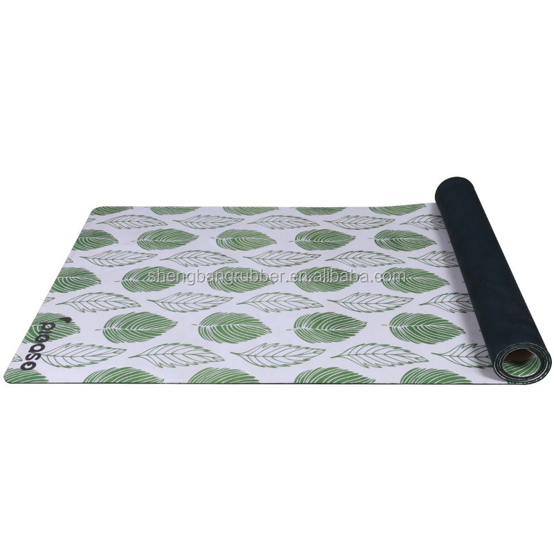 Wholesale Eco-friendly Sport Fitness Mat Printed Rubber