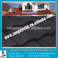 Aluminum Zinc Colored Stone Coated Rainbow Metal Tiles for Roofing Use