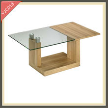 solid wood slab coffee tables study chairs tables wooden furniture YJC018