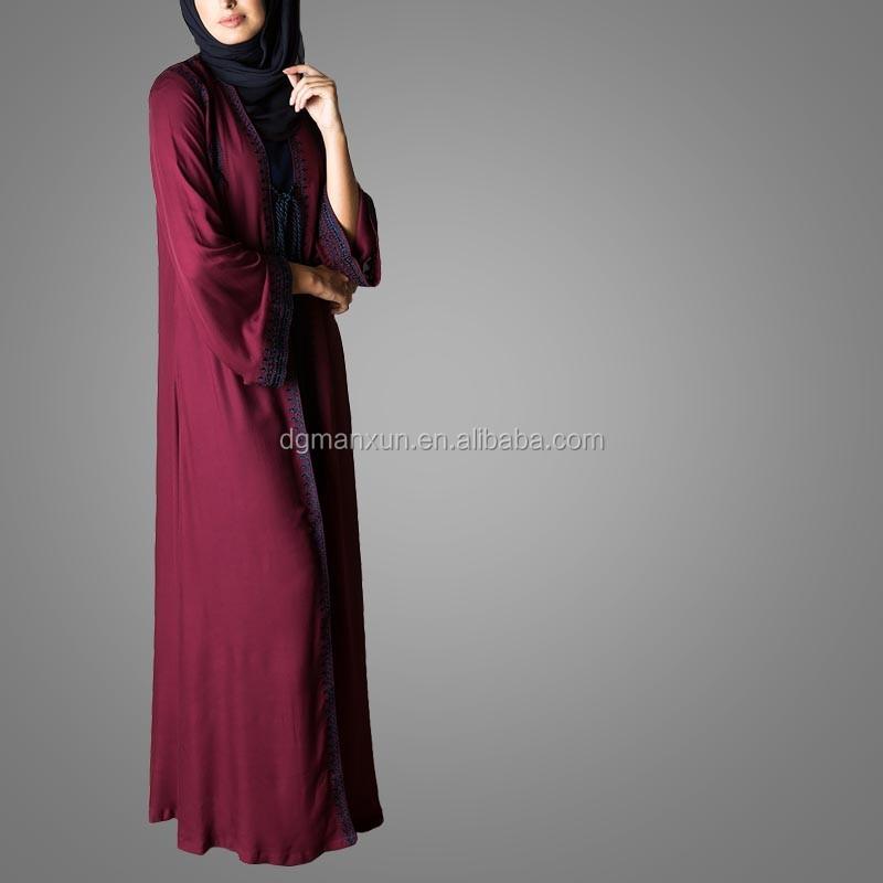 New Burqa Designs In Dubai Photo Long Kimono For Women Tudung Maxi Dress Of Dubai (3).jpg