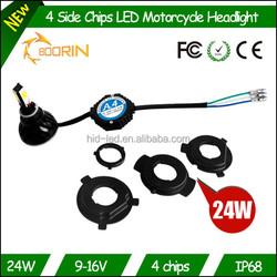 High Power 4 led White Motorcycle LED Hi/L Beam lights UNIVERSAL LED motorcycle Light For Motorcycle