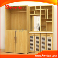 custom design floor wooden stand cabinet showcase guangdong factory