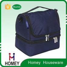 Hot-Selling Exceptional Quality Advantages Price Customize 600D Lunch Bag Dual Compartment