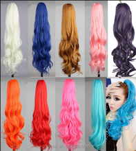 Long Wavy Colorful Clip In/On Hair Extensions Piece Curly Claw Ponytail