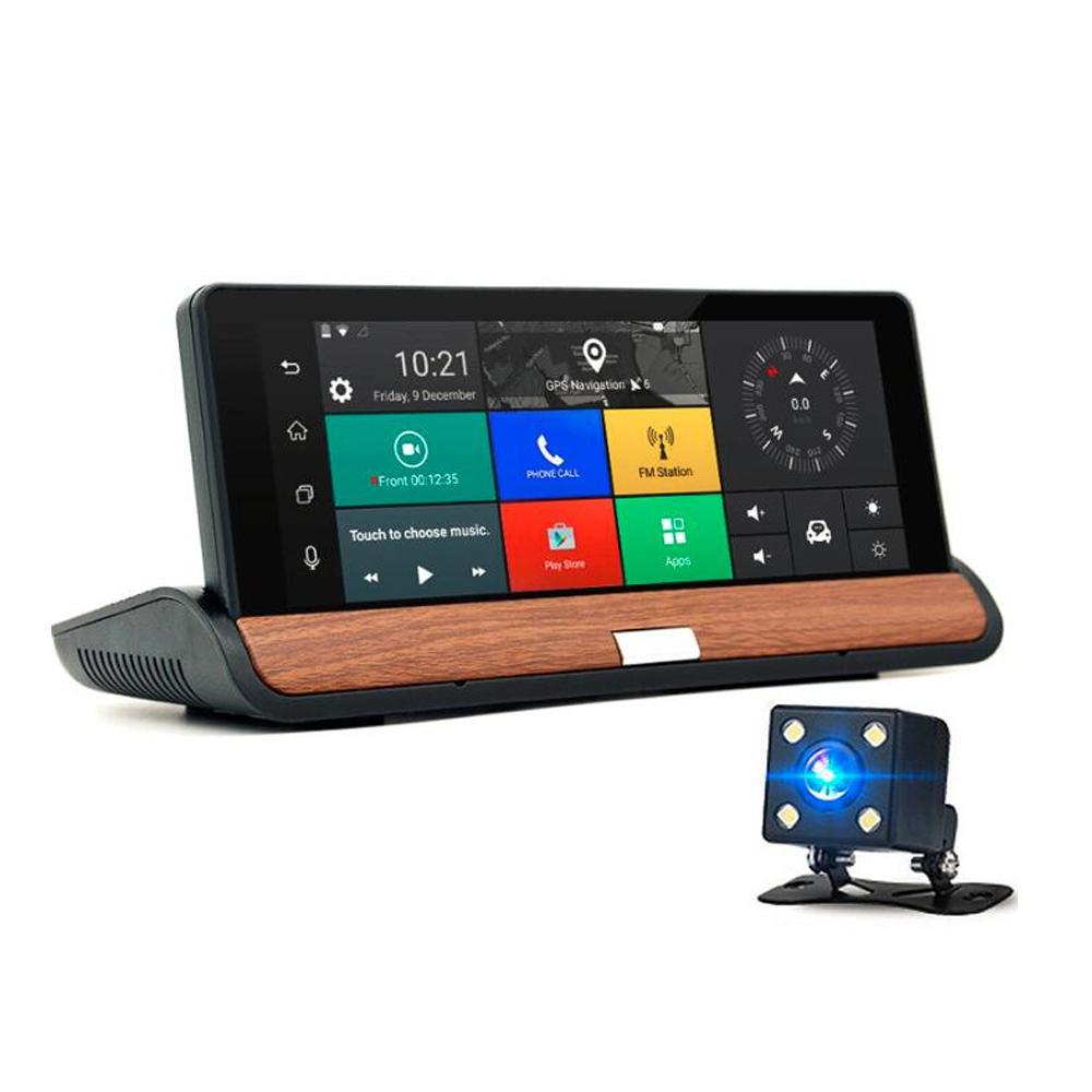 Tout en Un 7-inch Voiture DVR 3G AV DANS Rétroviseur caméra Android 7 GPS Navigation WIFI Bluetooth