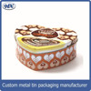 Attractive 4C printed heart-shaped tin box for chocolate