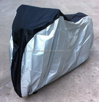sun protection motorbike cover 190T polyester PU coated black and silver color