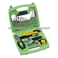 29pcs different kinds of hand tools and drill set in blow mold case