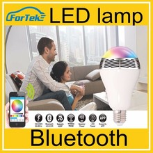 Bluetooth-controllable LED lamp, for iPad / iPod / iPhone/Apple Watch E27