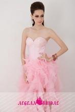 WYY26 elegant sweetheart off the shoulder backless beaded short front long back vestidos wedding dress