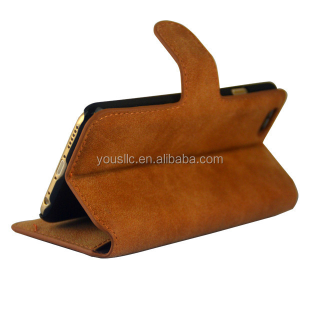 wholesale retro suede wallet leather case,leather case for iphone 6 plus