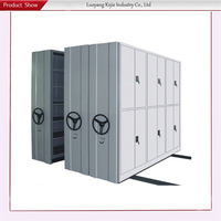 steering wheel mobile shelves 100kg/layer load bearing steel mobile shelf mobile goods storage system