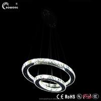 residential modern glass pendant lamp,ring led lighting