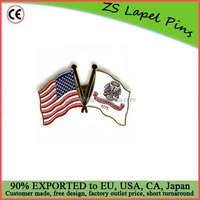 Custom made Army and US Flags Lapel Pin