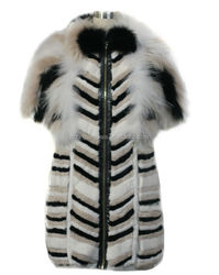 Animal Fur Woman Wear Stole Fur Stole Shawl