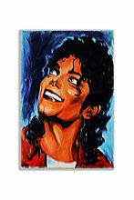 Retrato famoso Michael Jackson decoración de madera