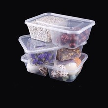 Transparent plastic containers with two compartments