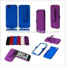 Cell phone case Belt clip rubber hard case for iphone 5 5s, for iphone 5s case belt clip ,for iphone case 5s 4s 6