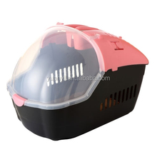 Pet dog cat flight cage pet rabbit hamster carrier airline approved pet carrier travel basket crate carry handle plastic