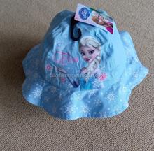 2015 Summer Fashion frozen Kids Girl Outdoor Bucket Hat elsa Sun cap Beach Beanie