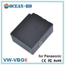 VW-VBG6 for Panasonic li-ion camcorder battery 7.2v