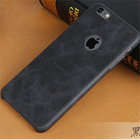 Usams brand PU high qualty leather cover back case for iphone 6S