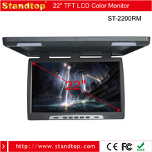 super slim 22 inch car/bus roof mounted led monitor with SD/USB card