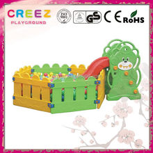 New style hot sell slide and swing toy center plastic