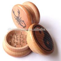 Wholesale wooden herb grinder high qulity metal grinders aluminium grinder