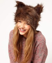 2015 New Winter Fur Faux Fashion Rabbit Ears woman winter cap SV010903